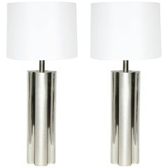 Laurel Fluted Steel Column Lamps