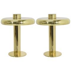 Laurel Lamp Co. Polished Brass Lamps