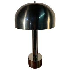 Laurel Lamp Company Karl Springer Style Chrome Mushroom Table Lamp