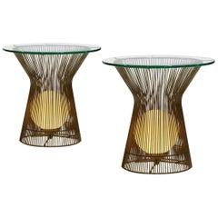 Laurel Lamp Glowing End Tables in Style of Warren Platner
