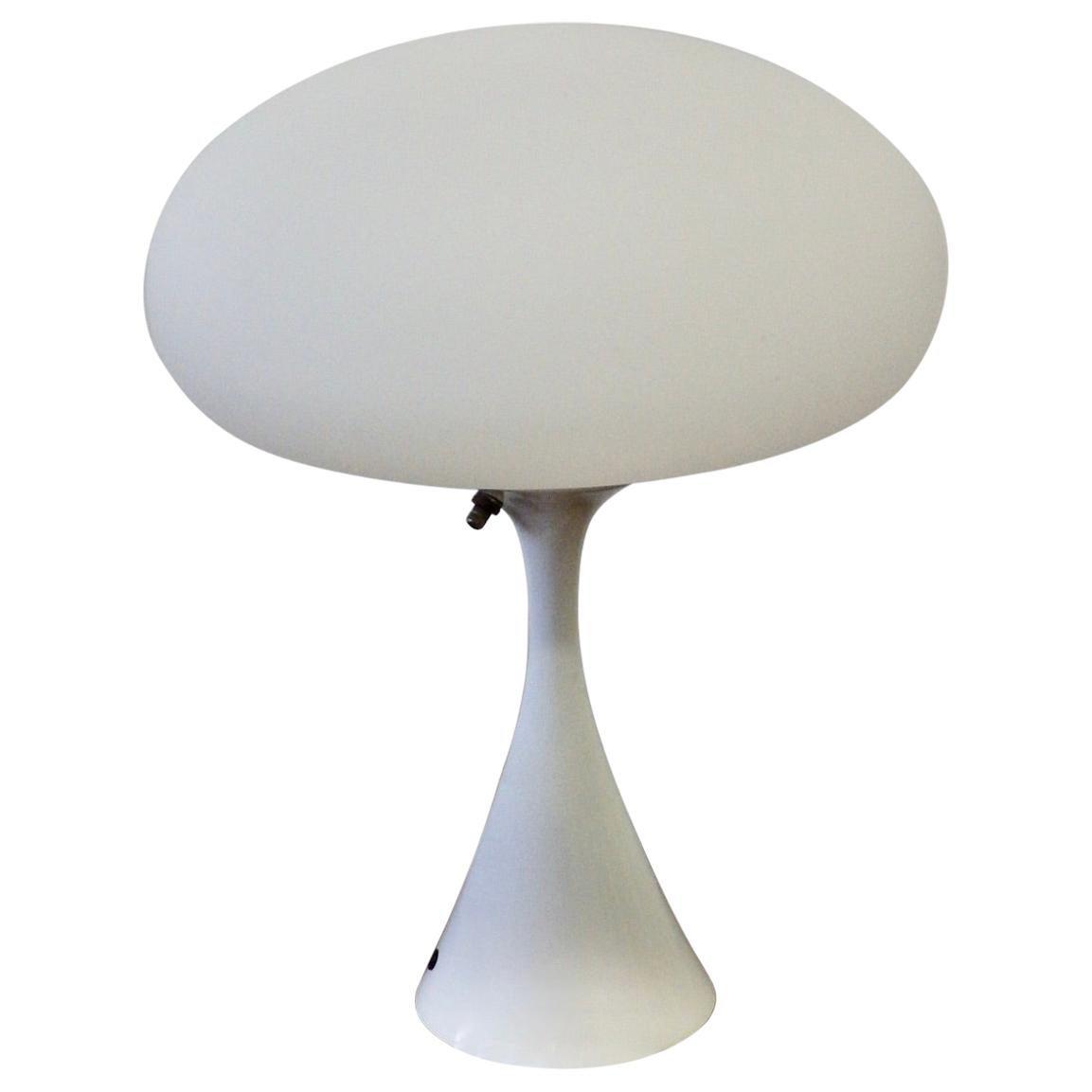Laurel Lamp with White Mushroom Globe