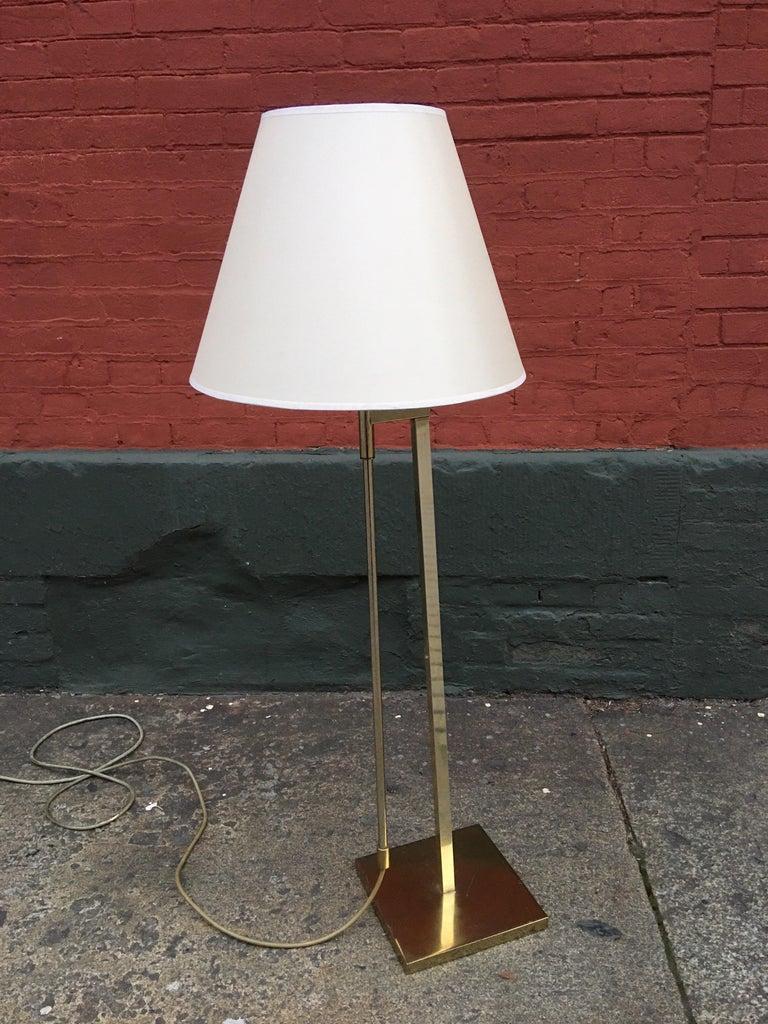 Laurel Lighting Adjustable Floor Lamp In Good Condition For Sale In Philadelphia, PA