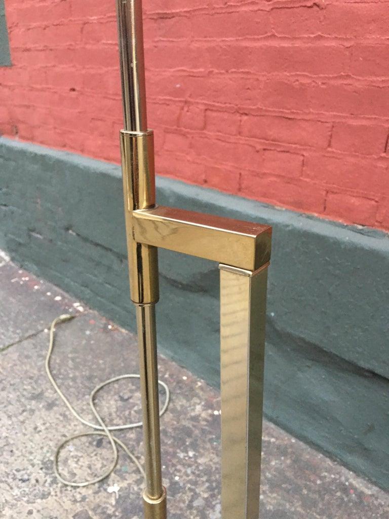 Brass Laurel Lighting Adjustable Floor Lamp For Sale