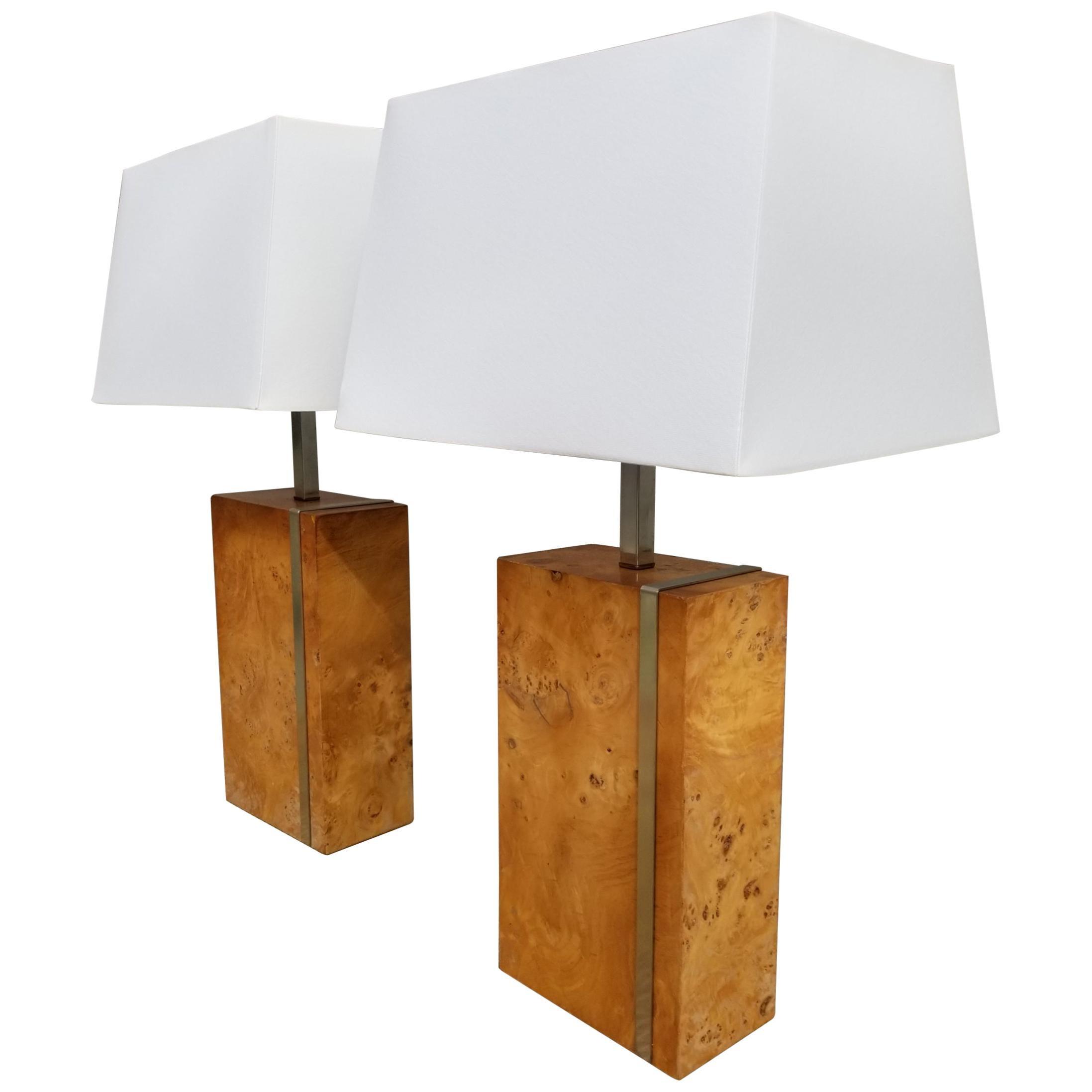 Laurel Lighting Burl-Wood Table Lamps