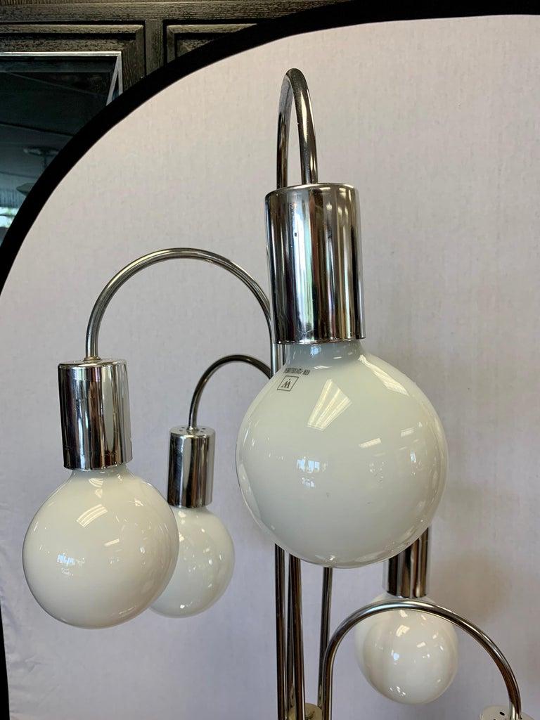 Laurel Lighting Mid Century Chrome Waterfall Large Table Lamp 5