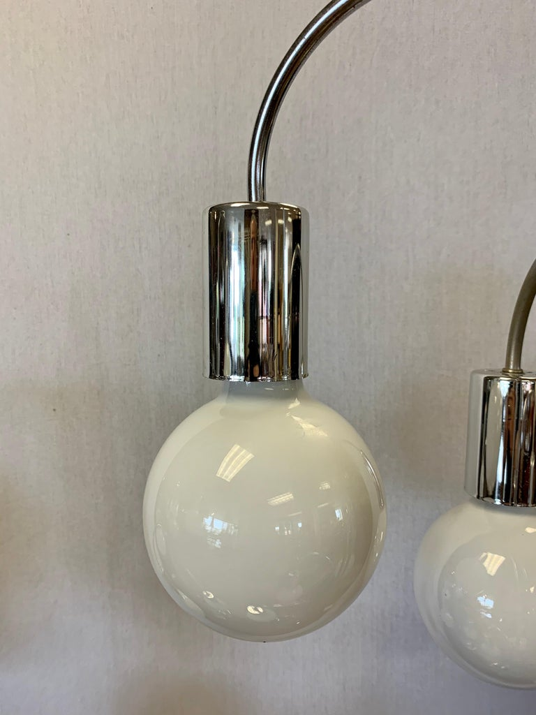 Laurel Lighting Mid Century Chrome Waterfall Large Table Lamp 6