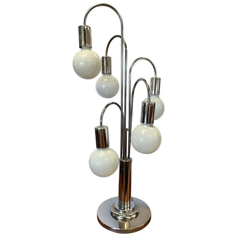 Laurel Lighting Mid Century Chrome Waterfall Large Table Lamp