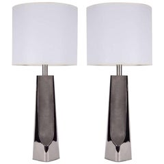 Laurel Modernist Polished Chrome Lamps