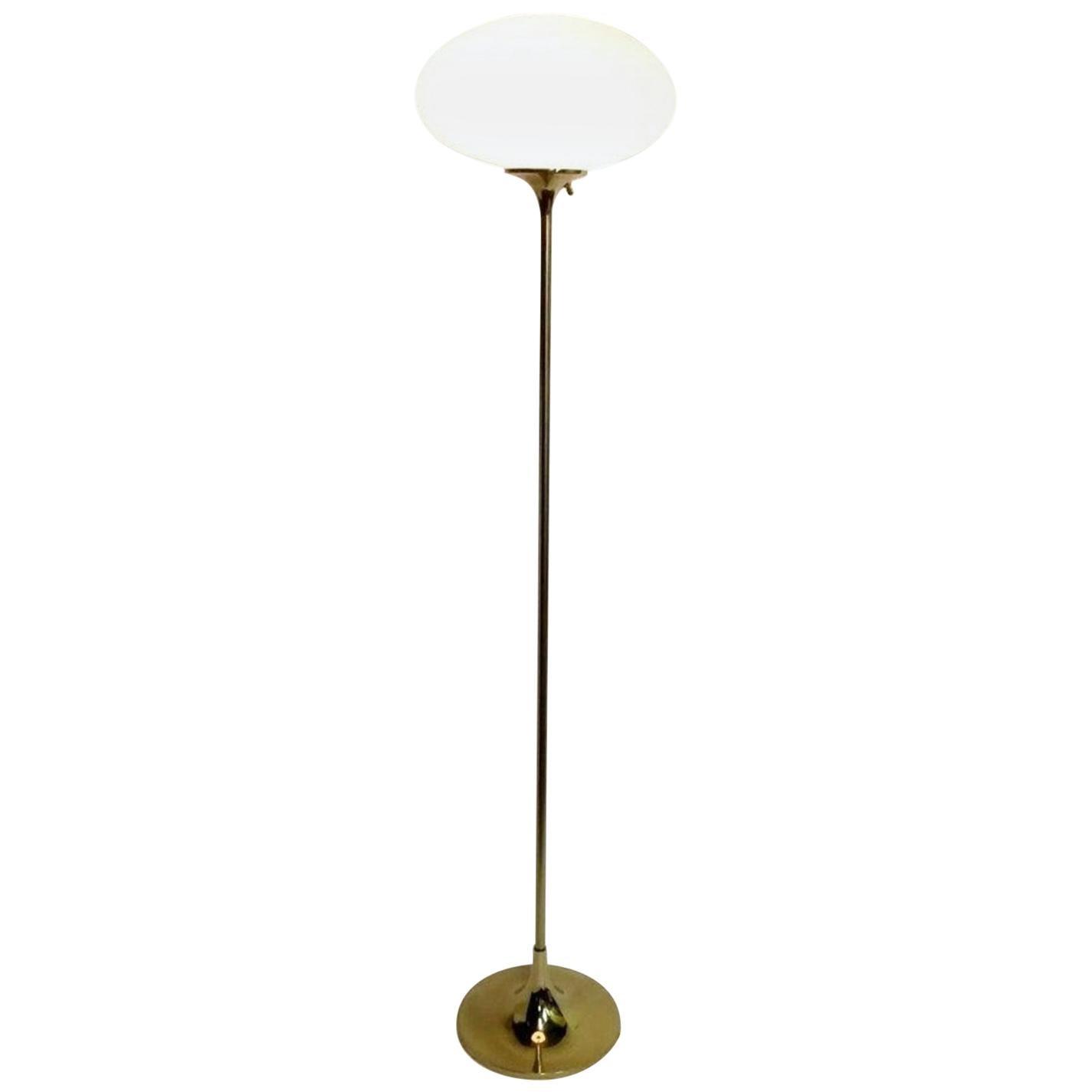 Laurel Mushroom Floor Lamp in Polished Brass