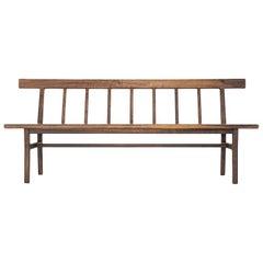 Laurel Settee, Modern Walnut Windsor Style Bench