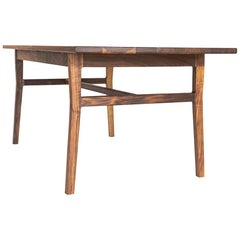 Laurel Table, Modern Walnut Dining Table with Sculpted Joinery