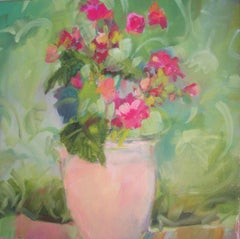 Begonias, Painting, Oil on Canvas