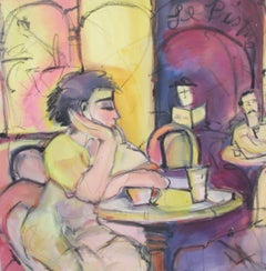 Cafe, Painting, Oil on Canvas