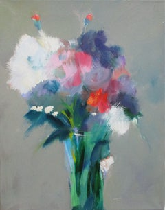 Floral Burst, Painting, Oil on Canvas