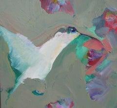 Hummingbird, Painting, Oil on Canvas