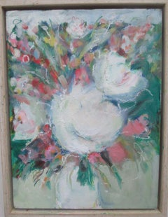Peonies Power, Painting, Oil on Canvas