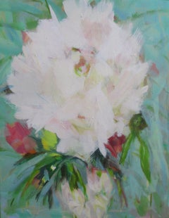Peony Power, Painting, Oil on Canvas