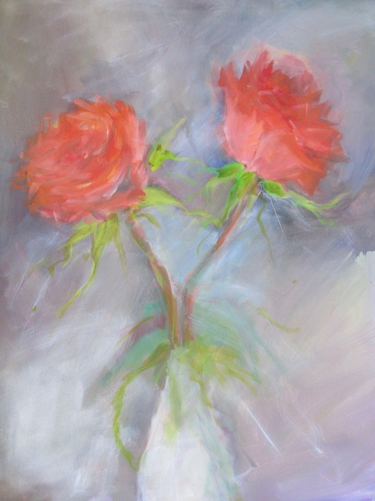 part of my Floral Rose series :: Painting :: Contemporary :: This piece comes with an official certificate of authenticity signed by the artist :: Ready to Hang: No :: Signed: Yes :: Signature Location: Bottom left :: Canvas :: Portrait :: Original