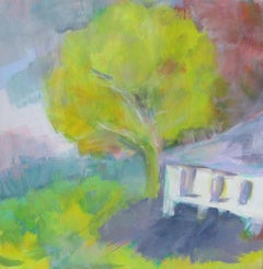summer house, Painting, Oil on Canvas