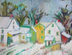 Village, Painting, Oil on Canvas