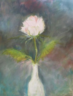 White Rose, Painting, Oil on Canvas