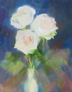 White Roses, Painting, Oil on Canvas