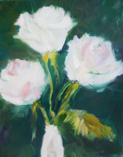 Winter Roses, Painting, Oil on Canvas