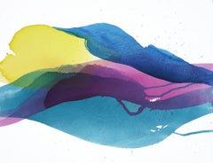 Hot Season Sundown II, Painting, Acrylic on Canvas