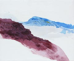 Violet Mountainside, Painting, Acrylic on Canvas