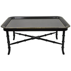Lauren by Ralph Lauren Mitchell Place Black Faux Bamboo Coffee Cocktail Table