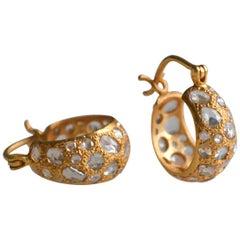 Lauren Harper 2.49 Carat Diamond Gold Hoops