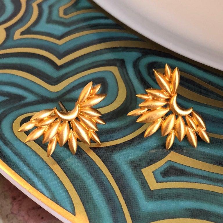Lauren Harper Gold Sunburst Studs For Sale 3