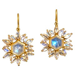 Lauren Harper Moonstone Gold Earrings