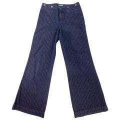 Lauren Jeans Company Ralph Lauren Dark Blue Straight Jeans, Size 4