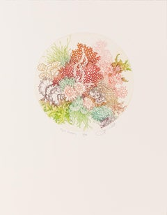 Aqua Garden - Color Etching of Underwater Coral and Plant Life