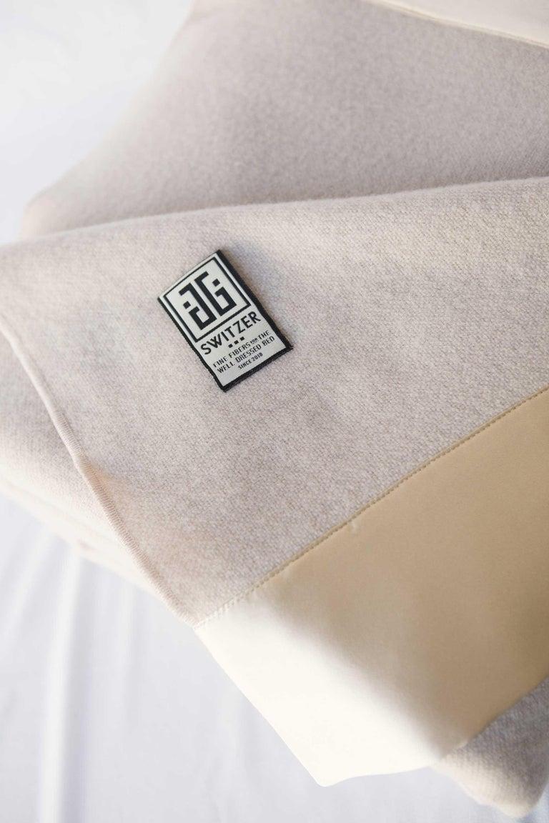 Lauren Lambswool Champagne Blanket, Queen In New Condition For Sale In Sebastopol, CA
