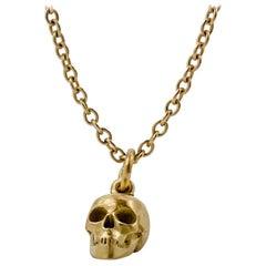 Lauren Newton Gold Matter Skull Charm in 18k yellow gold