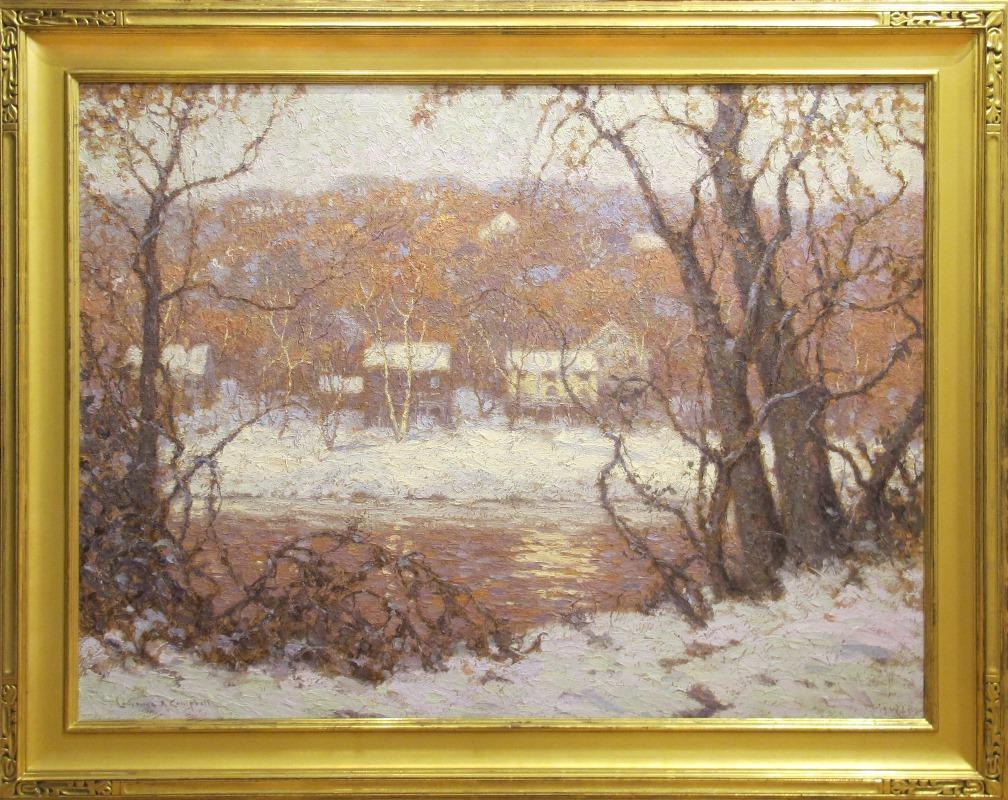 """Winter Along the Delaware (River Landscape)"""