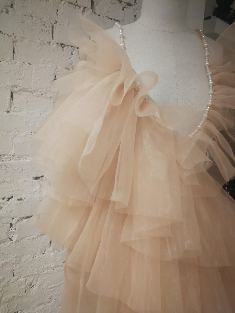 Laurence and Chico Tulle Dress In New Condition For Sale In Capri, IT