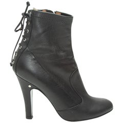 Laurence Black Dacade Leather Ankle Boots