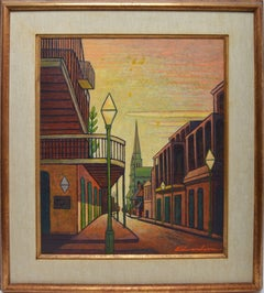 View of The French Quarter, New Orleans Street Scene by Laurence Edwardson