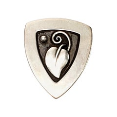 Laurence Foss Sterling Silver Leaf Pin #450