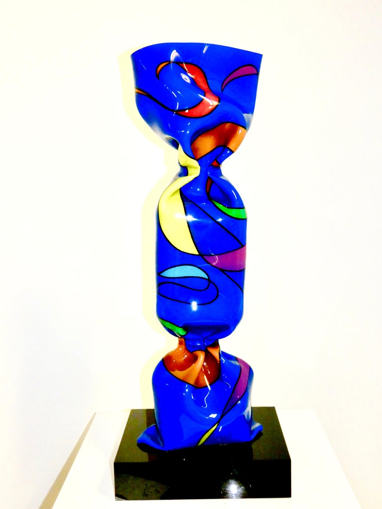 Laurence Jenkell Figurative Sculpture - Wrapping Candy Painted