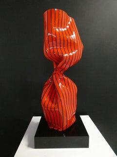 Wrapping Twist Bonbon Rouge Raye Noir