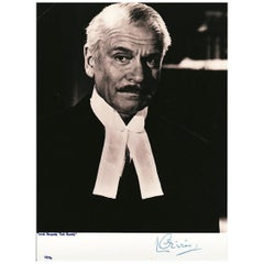 Laurence Olivier Original 1970s Signed Photograph Black and White