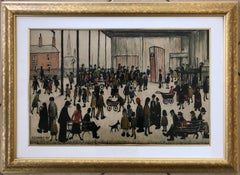 "Laurence Stephen Lowry ""Punch & Judy"" Color Lithograph c.1943"