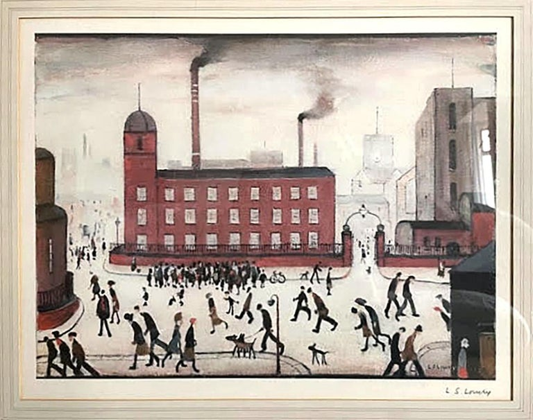 Laurence Stephen Lowry Landscape Print - Mill Scene