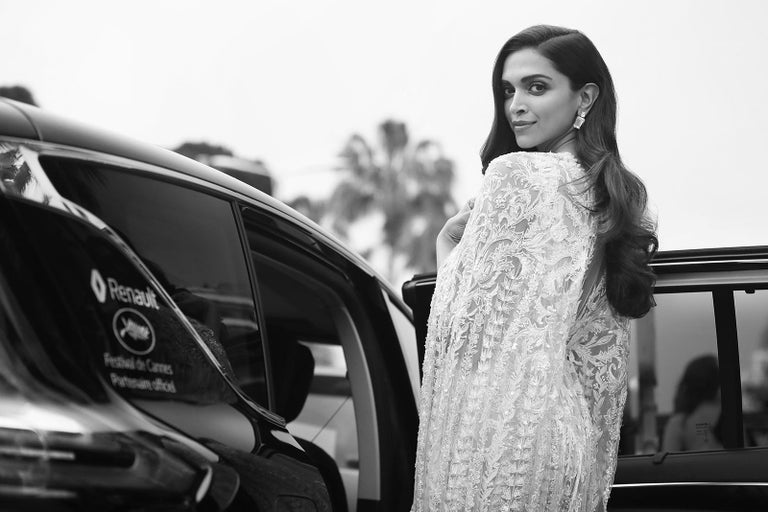 Deepika - Signed limited edition print, Black and white photography, Actress - Contemporary Photograph by Laurent Campus
