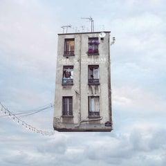 Couscous - Digital Contemporary Color Photograph of a Parisian Flying House