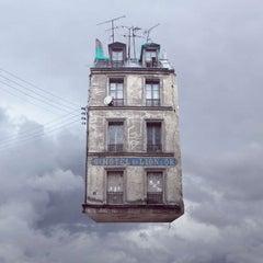 Hotel du Lion d'Or - Digital Contemporary Color Photograph Parisian Flying House